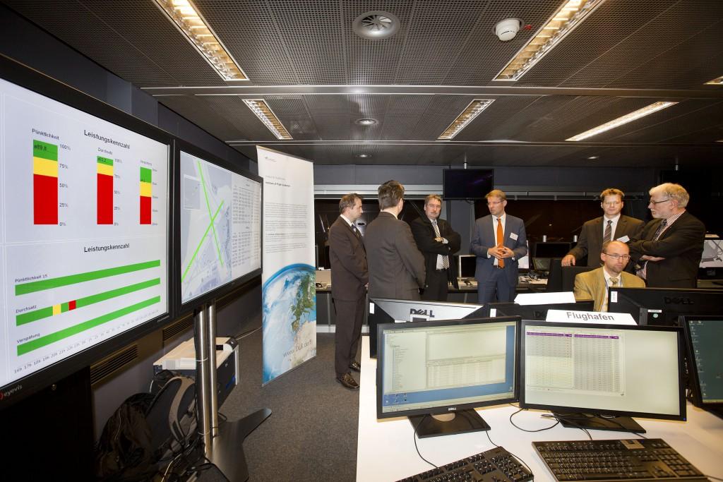 """Tagung """"Airport 2030"""", im Conferencecenter, Test-Leitstand und auf dem Top Deck im Terminal 2"""